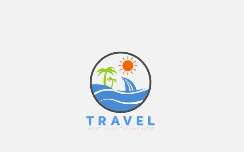 Travle-logotypkoncept för landskap