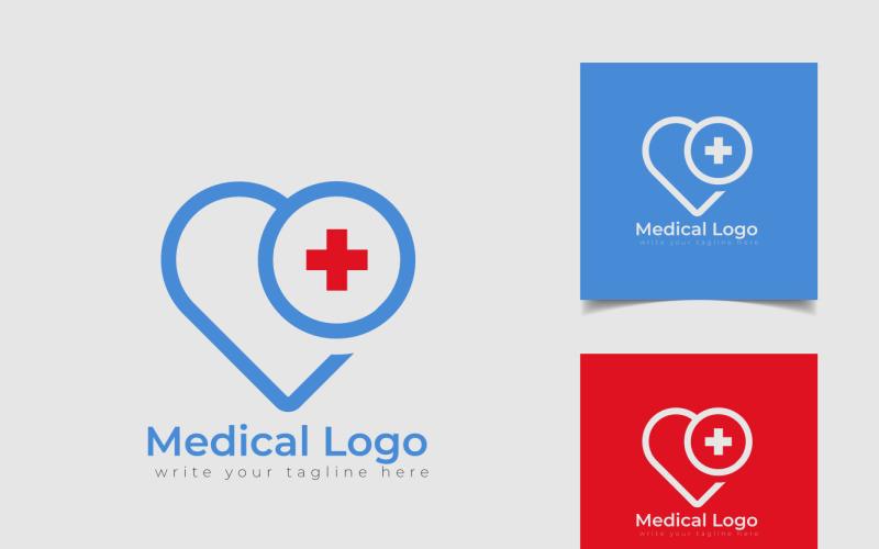 Vårdmedicinsk logotyp med korsikoner