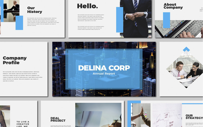 Delina Business Powerpoint-mall
