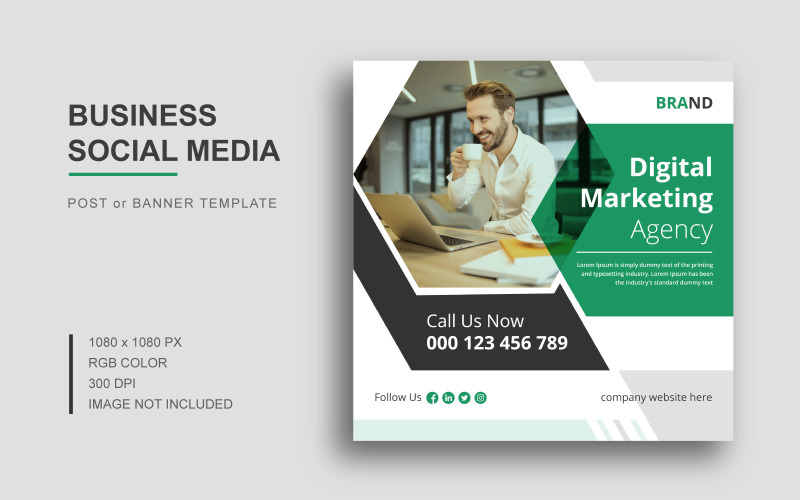 Digital marknadsföring Social Media Post