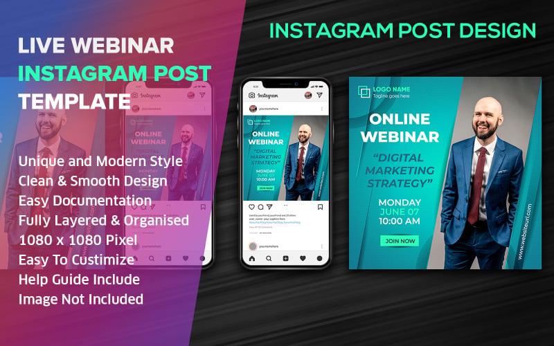 Live Streaming Social Media Post Design Instagram Template vol - 1