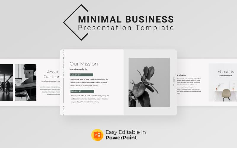 Minimivärde för PowerPoint-presentationsmall