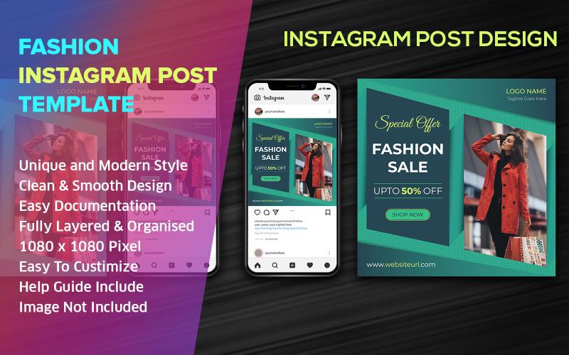 Mode sociala medier Post Design Instagram mall
