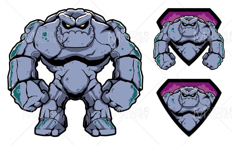 Stone Giant Mascot Vector Illustration