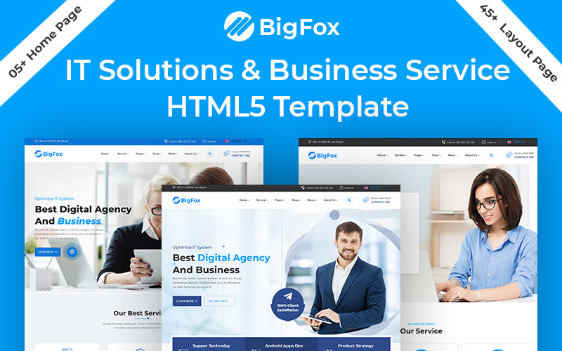 BigFox IT-lösning Business Service HTML5-mall