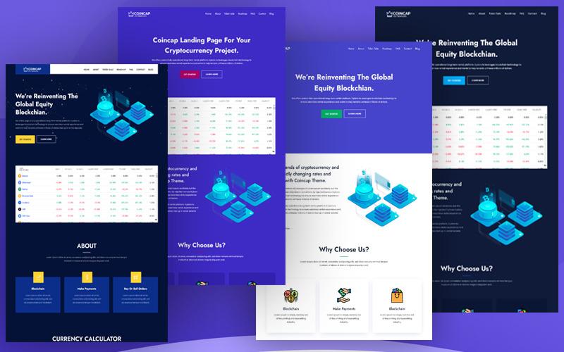 Coincap - Cryptocurrency ICO Landing Page WordPress Theme