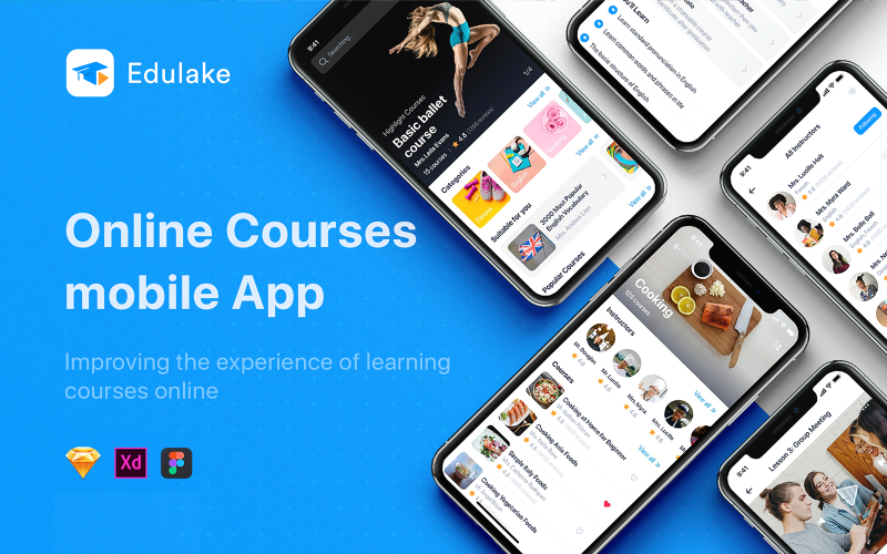 Edulake - Online Course mobile UI Kit