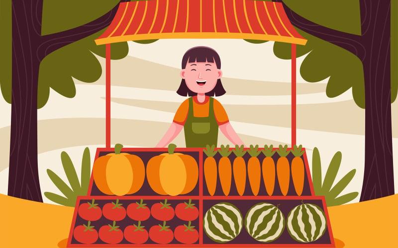 Farm Vector Illustration #09