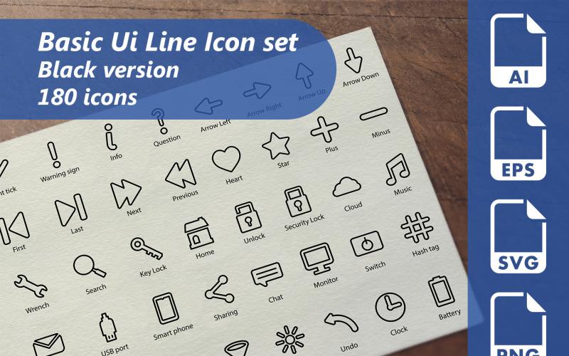 Grundläggande mall för UI-linjesymbol