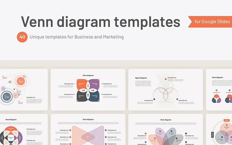 Venn-diagram Google Slides-mallar