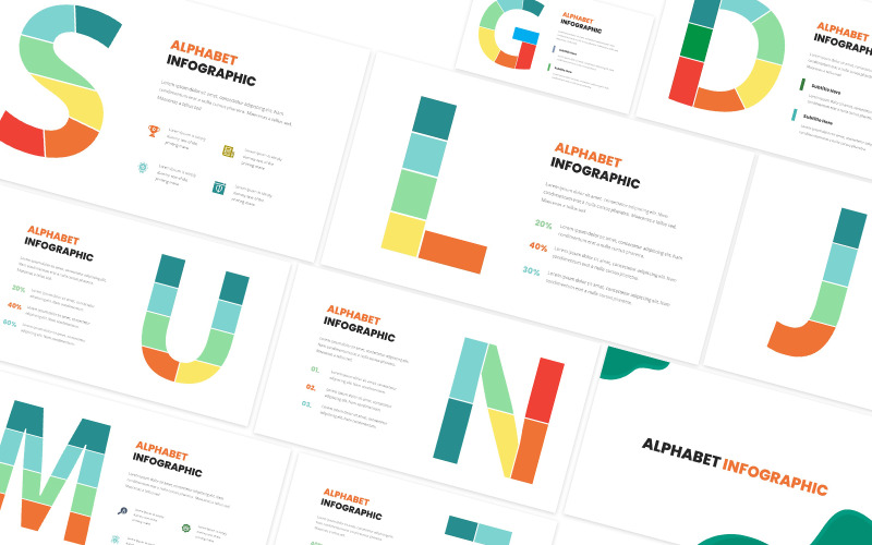 Alfabetet Infographic Powerpoint-mall