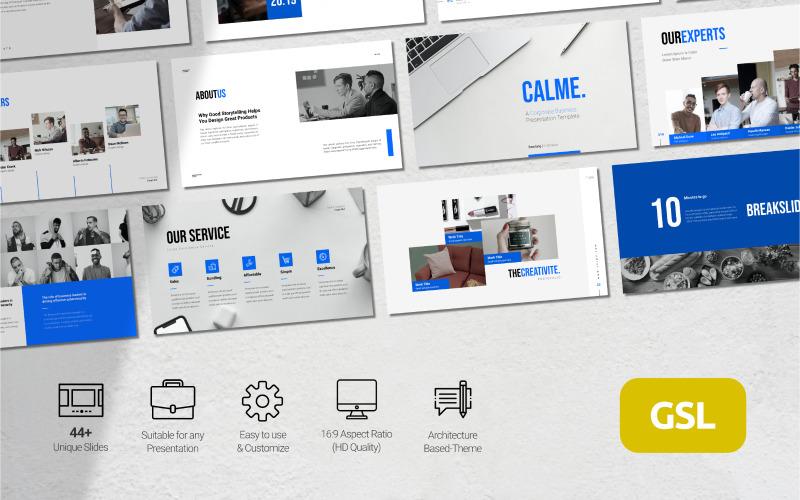 Calme - Corporate Business Presentation - Google Slides Template