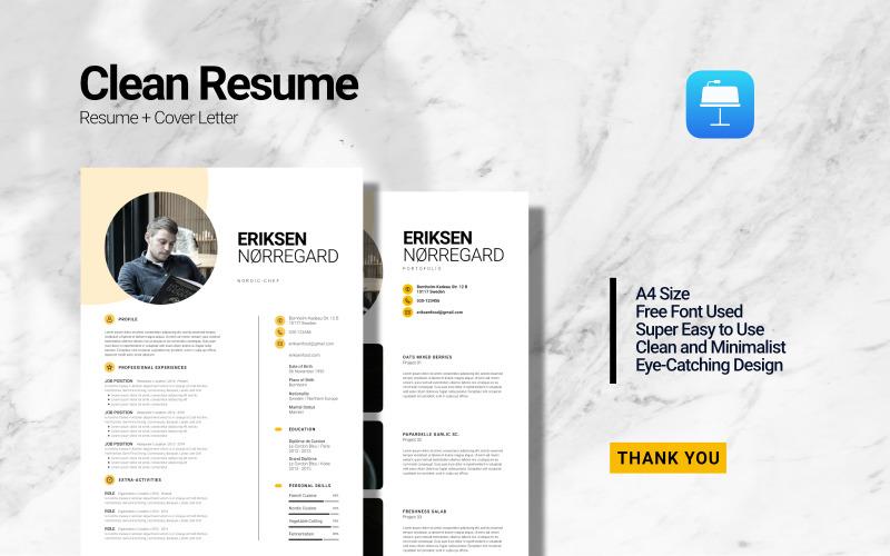 Clean Minimalist Curriculum Vitae - Resume Keynote Mall