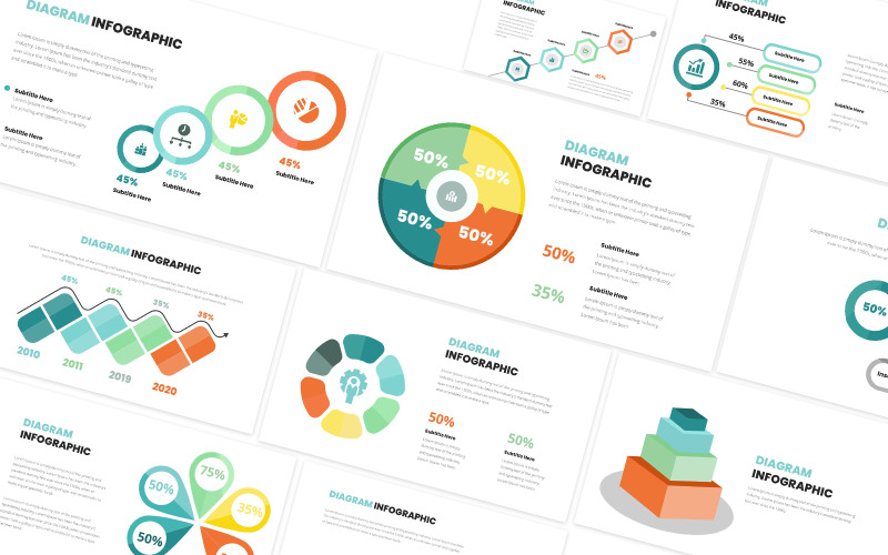 Diagram Infographic Powerpoint-mall
