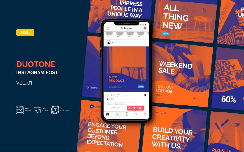 Duotone - Business Instagram Post - Google Slides Template