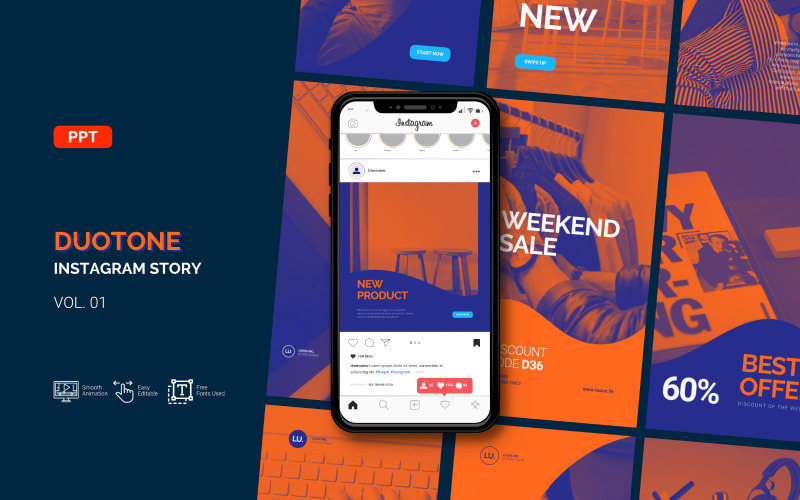 Duotone - Business Instagram Story - Powerpoint Template