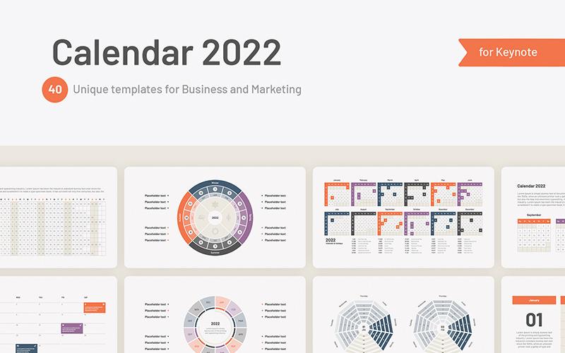 Mallar för kalender 2022 för Keynote
