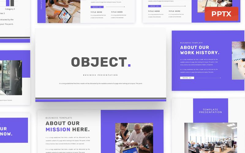 Objet - Modèle de présentation Powerpoint d'entreprise