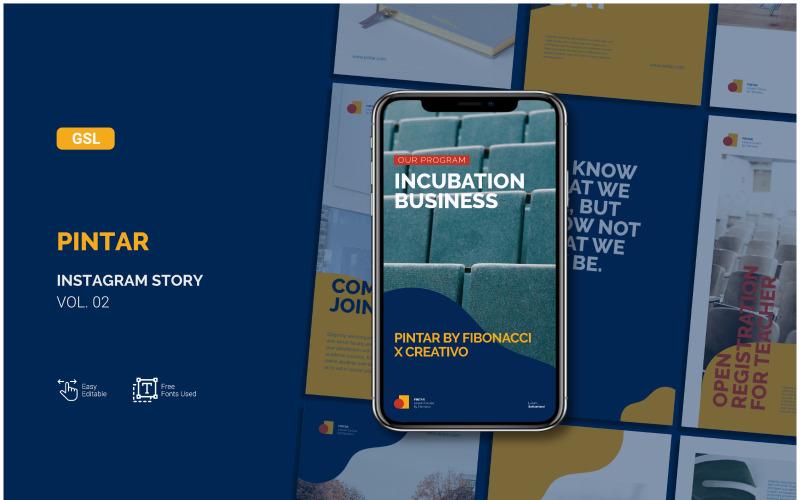 Pintar - Business Instagram Story - Google Slides-mall