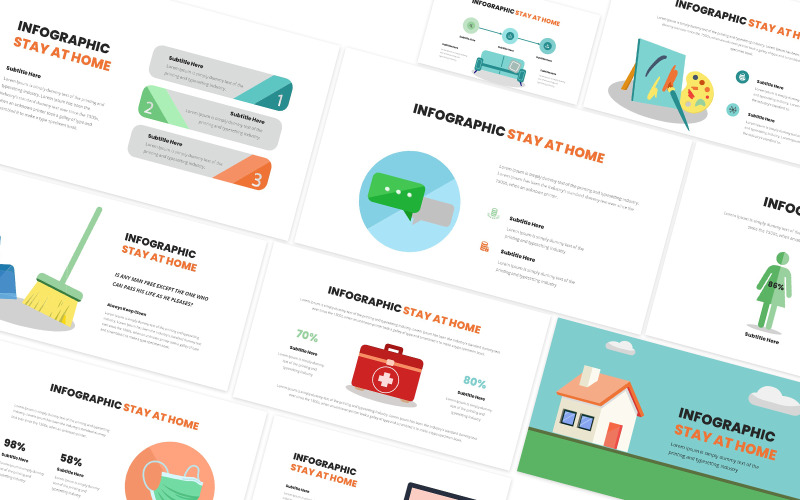 Stay At Home Infographic Powerpoint Template