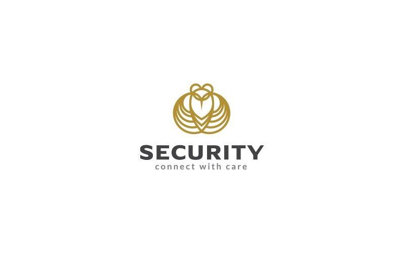 Uggla säkerhet logotyp mall