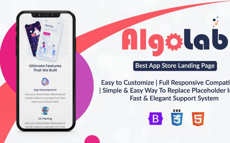 AlgoLab - Html-webbplats och marknadsföringswebbplats