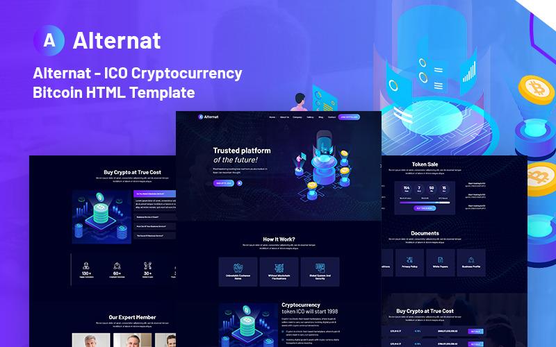 Alternativ - ICO Cryptocurrency Bitcoin Responsive Website Mall