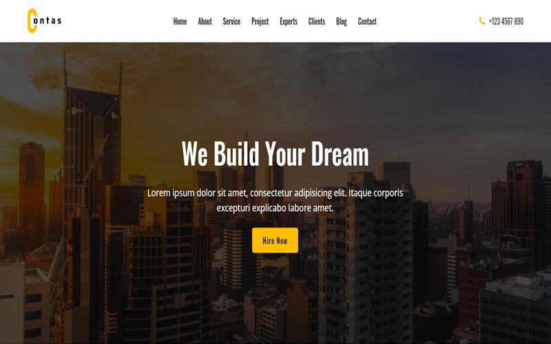Contas - HTML-mall för en sida