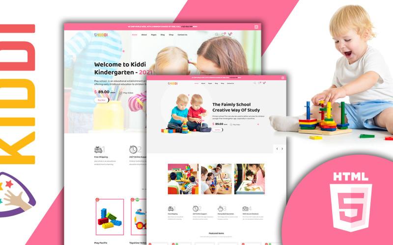 Kiddi färgglada barnbutik HTML5 webbplats mall