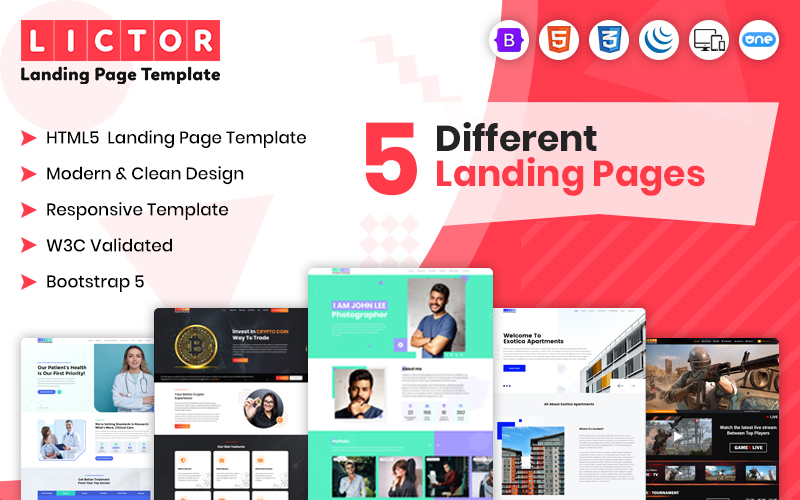 Lictor - Multipurpose Landing Page Template