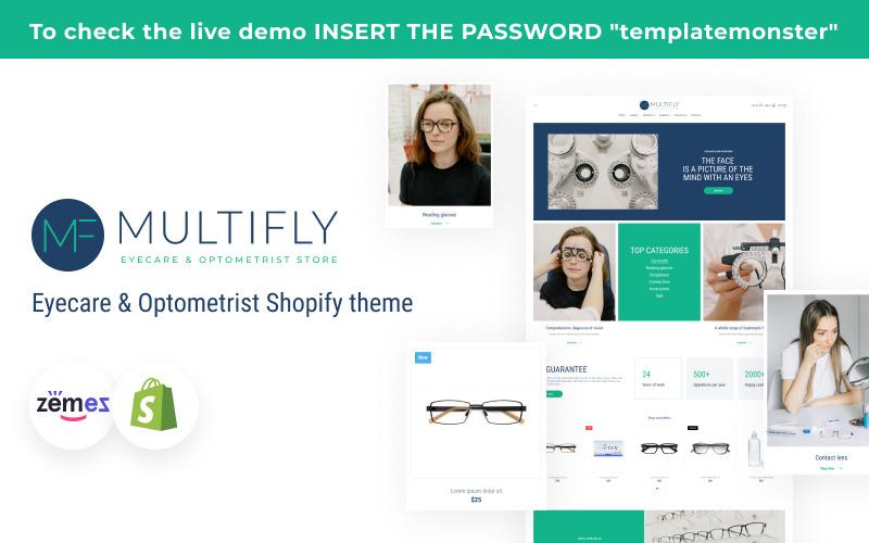 Multifly Eyecare & Optometrist Shopify theme