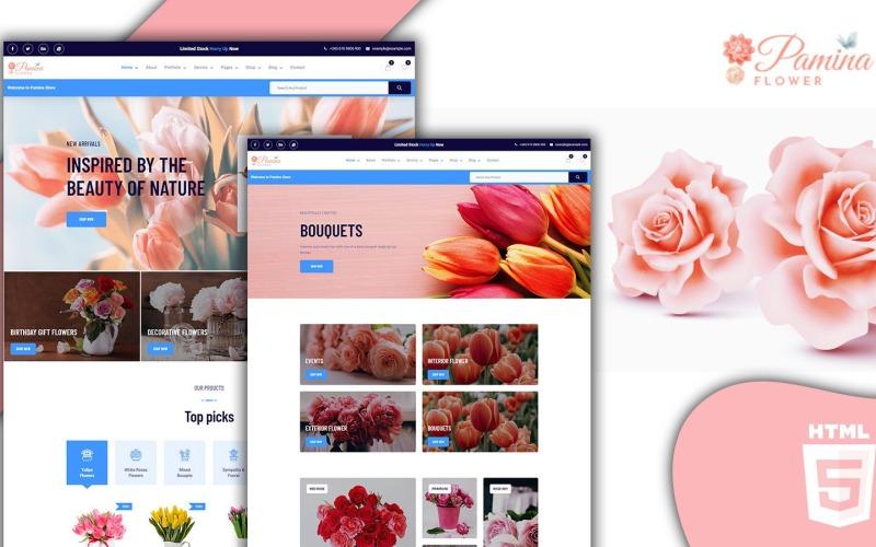 Pamina Swift Florist och Flower Shop HTML5 webbplats mall