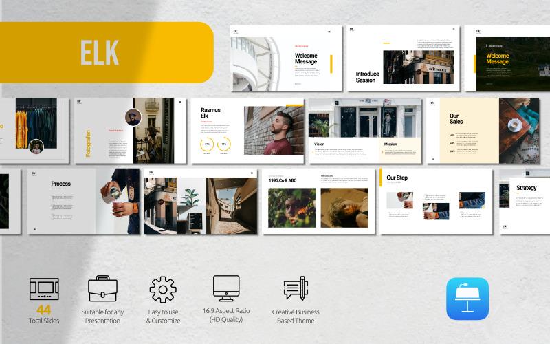 Älg - Affärspresentation - Keynote-mall