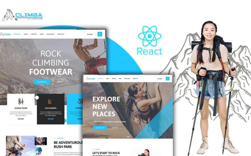 Climba Extreme Sports React Js Website  Template