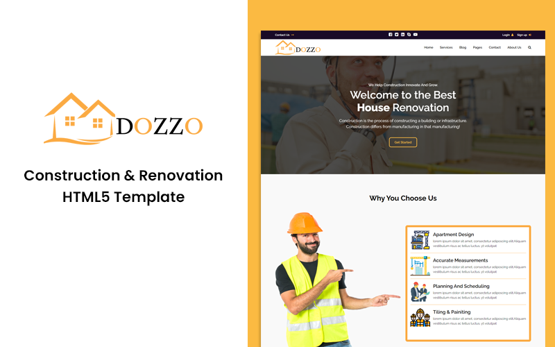 Dozzo - Construction and Renovation HTML Website template