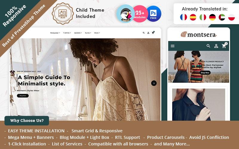 Montsera - PrestaShop Theme for Online Fashion Store