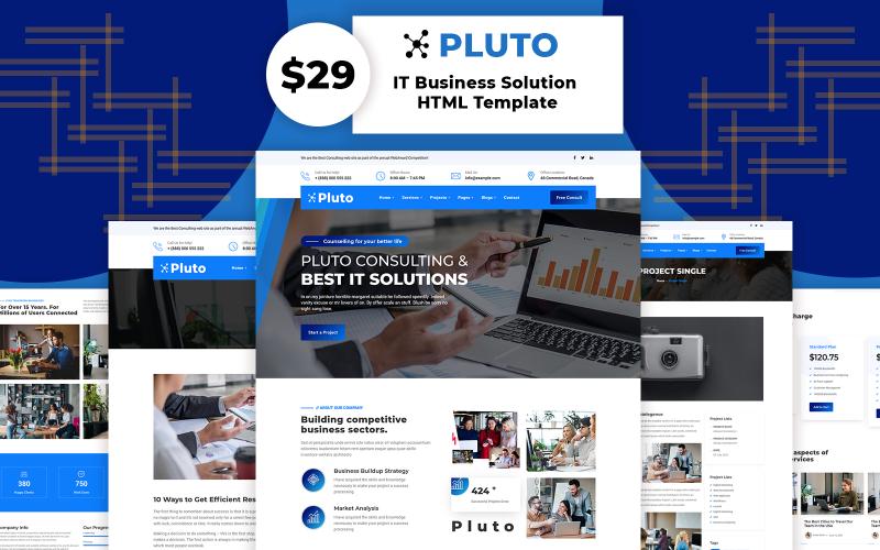 Pluto - mall för IT-lösning och företagswebbplats