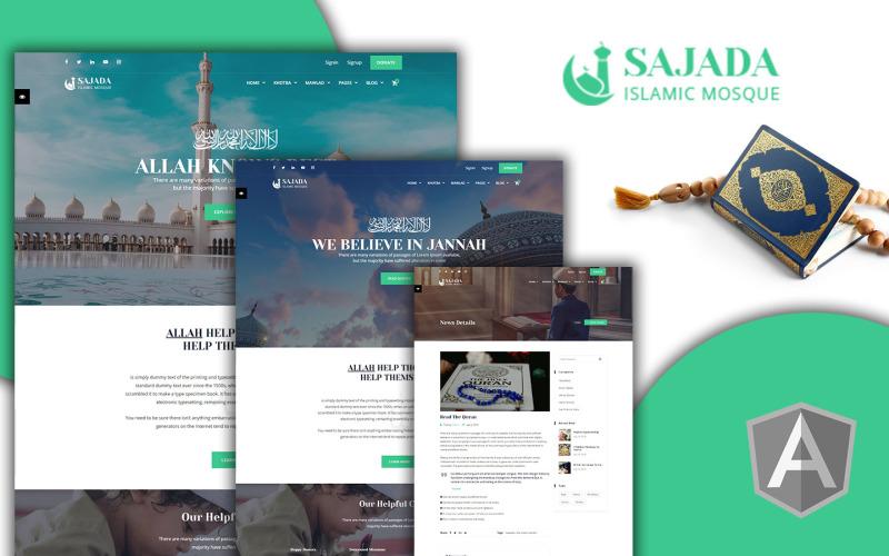 Sajdah - Islamisk moské vinkel webbplats mall