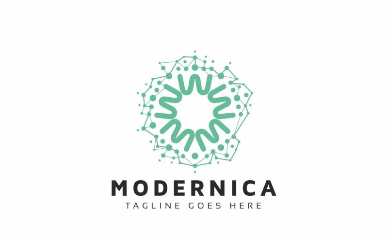 Abstract Circle Molecular Logo Template