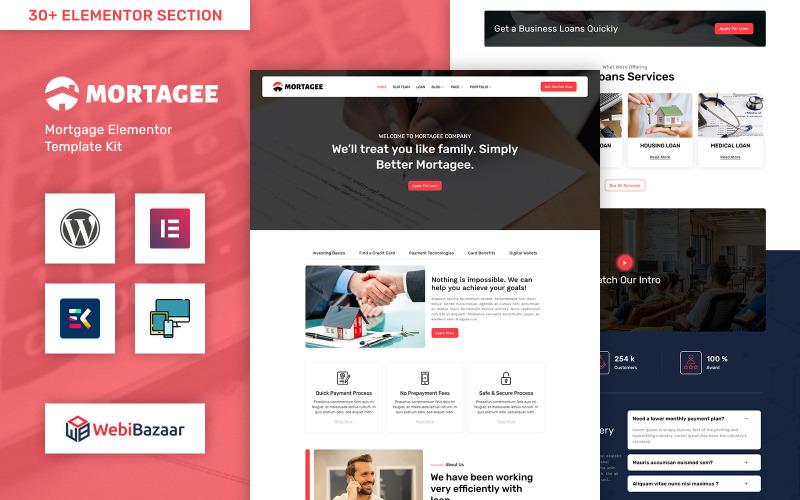 Mortagee - WordPress-tema för bank-, låneföretag och finans