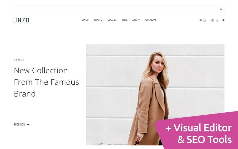 Сlothes e-handel Moto CMS webbplats mall