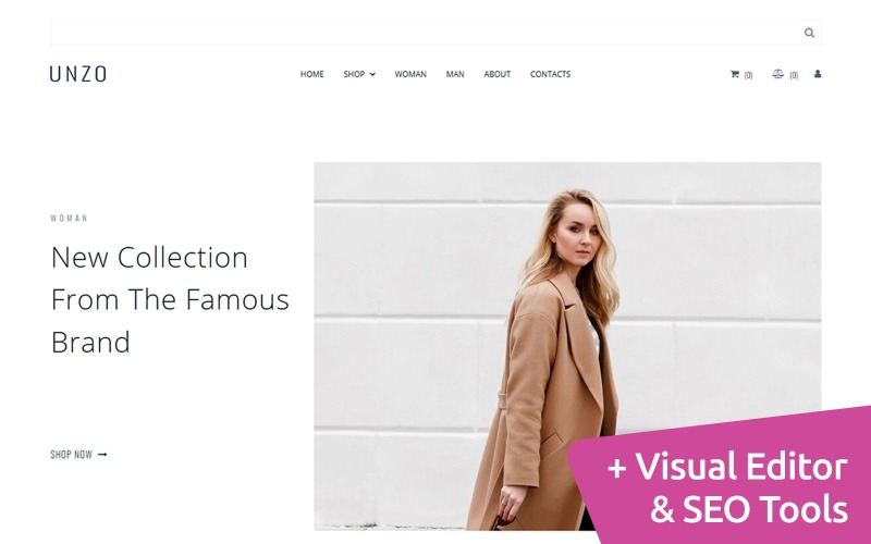 Сlothes Ecommerce Moto CMS Website Template