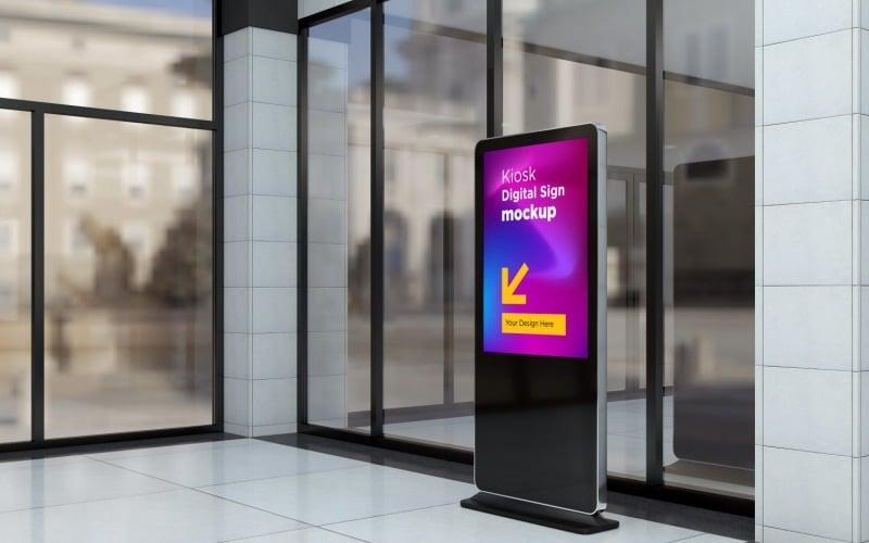 Annonsera Totem Digital tecken två Mockup mall