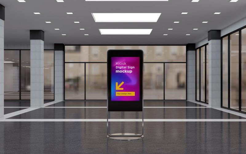 En modern tom mall för digital skyltmodell
