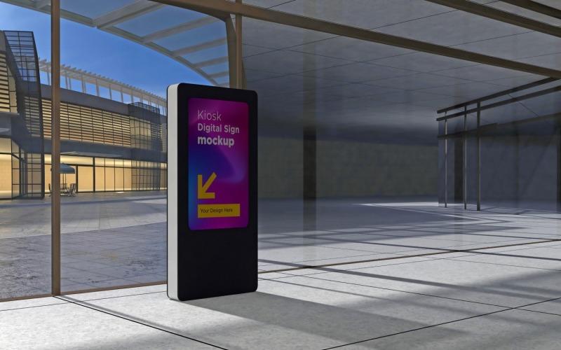 Informationsmall för digital displaymockup