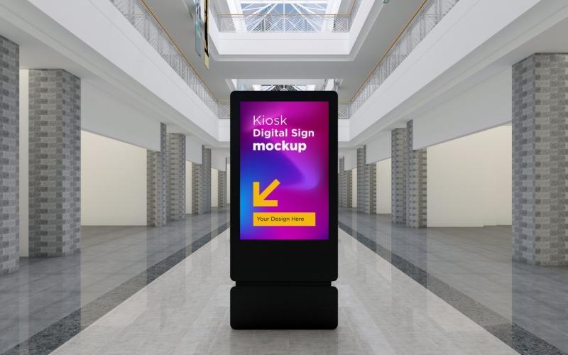Kiosk Digital tecken 3D-rendering Mockup-mall