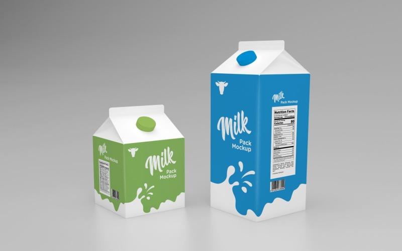 Mjölkförpackning En och en halv Mockup-mall