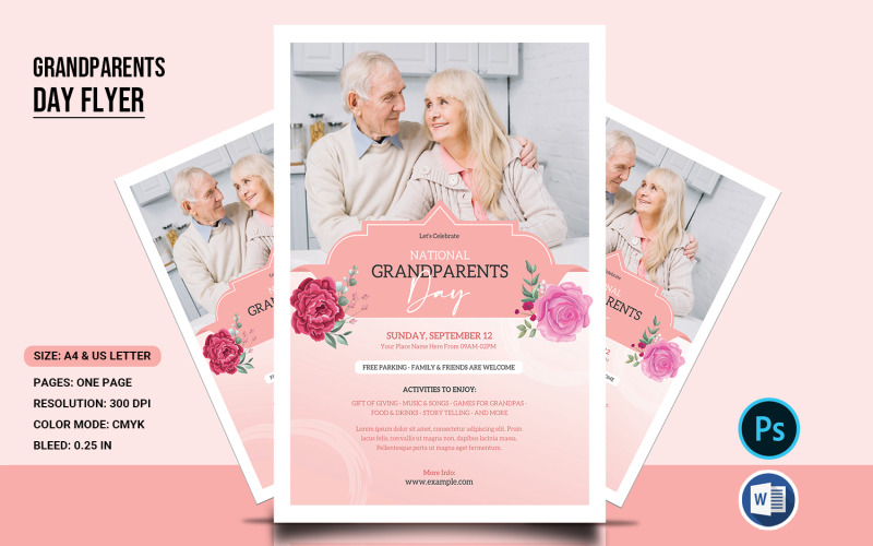 Grandparents Day Flyer Corporate Identity Template