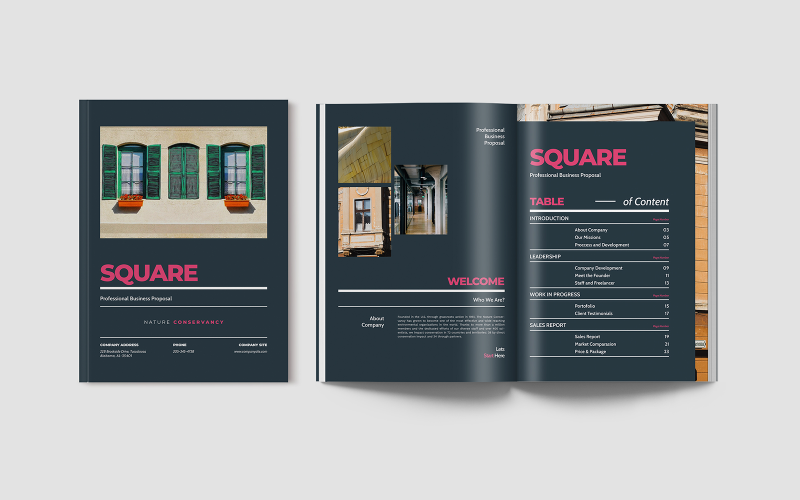 Square Business Proposal Indesign