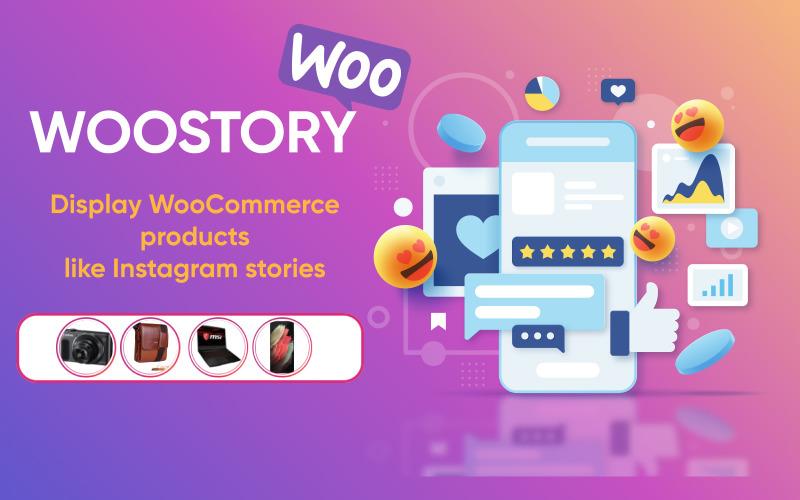 WOOSTORY – Wtyczka Wordpress przypominająca historię produktów WooCommerce na Instagramie